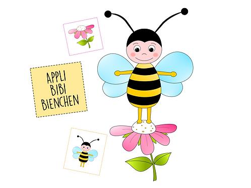 Applikationsvorlage Bibi Bienchen