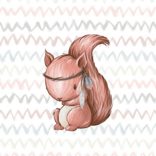 PANEL GROß Waldfreunde Eichhörnchen (40x50cm, French Terry)