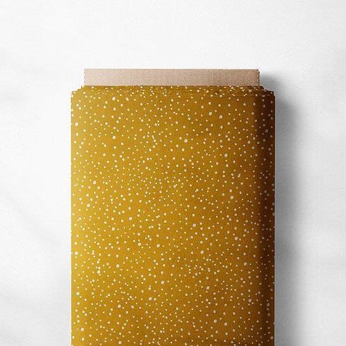 0.5m Jersey Mini Dots ocker
