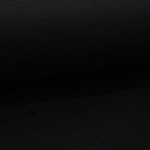 0.5m Biojersey schwarz
