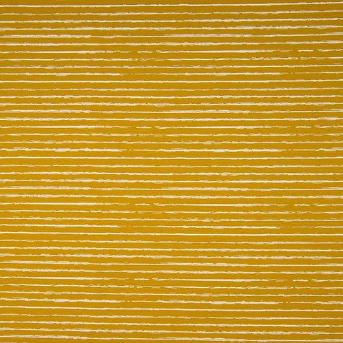 0.5m Jersey Stripes ocker