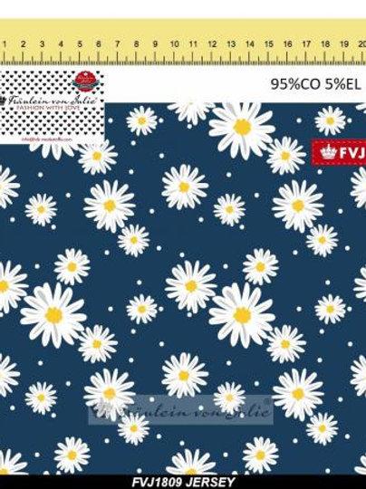 0.5m Jersey Blumenwiese blau (FVJ)