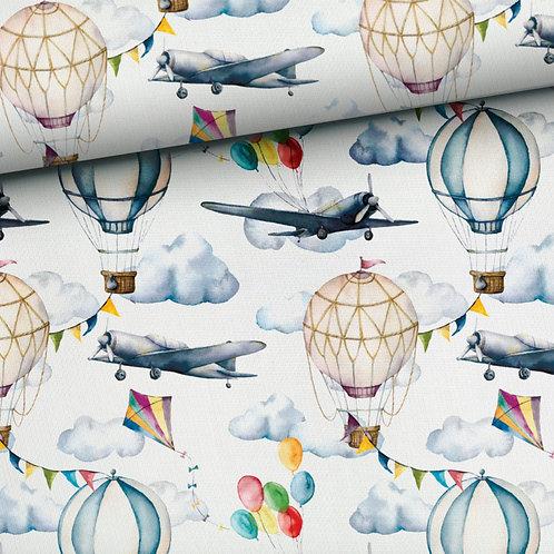 0.5m French Terry Flugzeug & Ballon
