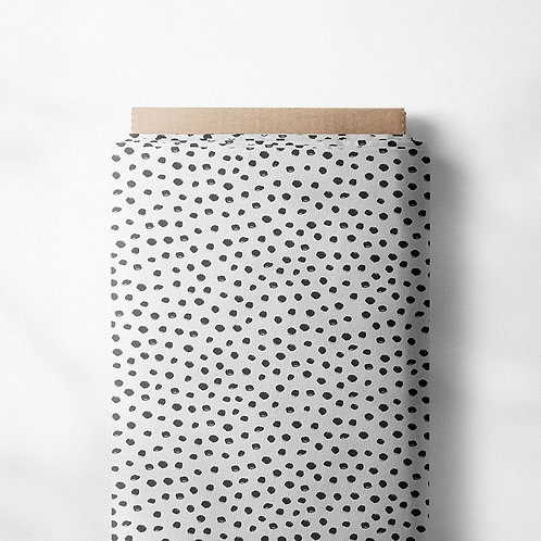 0.5m Jersey Mini Dotties schwarz-weiß