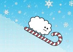 Candy Cane Snow
