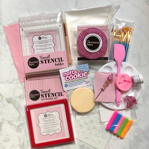 The Sweetest Tiers Deluxe Decorating Kit with silk screen