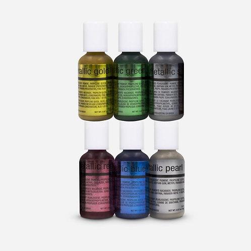 Chefmaster 6 Metalic Airbrush color Kit