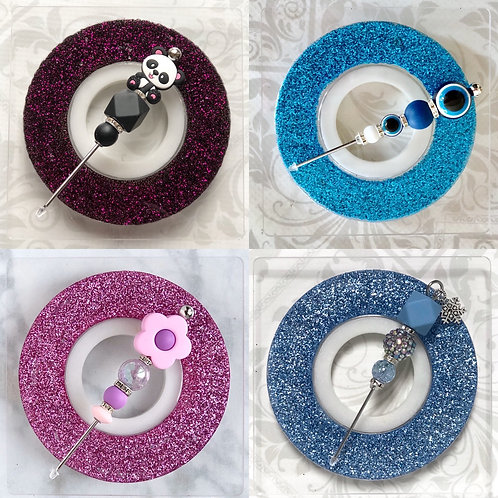 Mini Glitter Turntable, Mat & Beaded Scribe Set