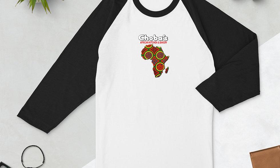Choba's 3/4 sleeve raglan shirt