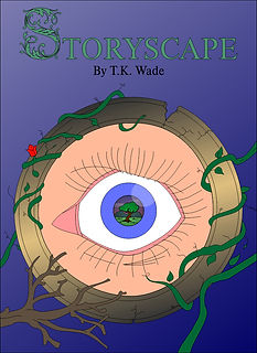 Surreal eye. Strange. Storyscape. Book.