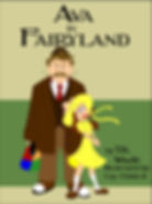 Man and girl. Book. Ava in Fairyland.