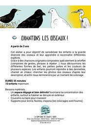 CHANTONS LES OISEAUX 2020 2021 chauves s