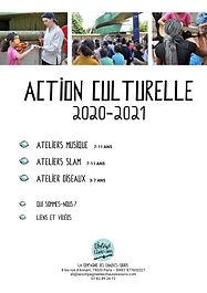 ACTION CULTURELLE 2020 2021 ChauvesSouri