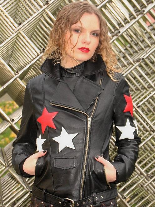 Red Star Biker Fashion Jacket.