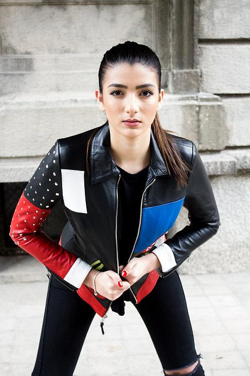 Riveted Fashion Designer Jacket-2