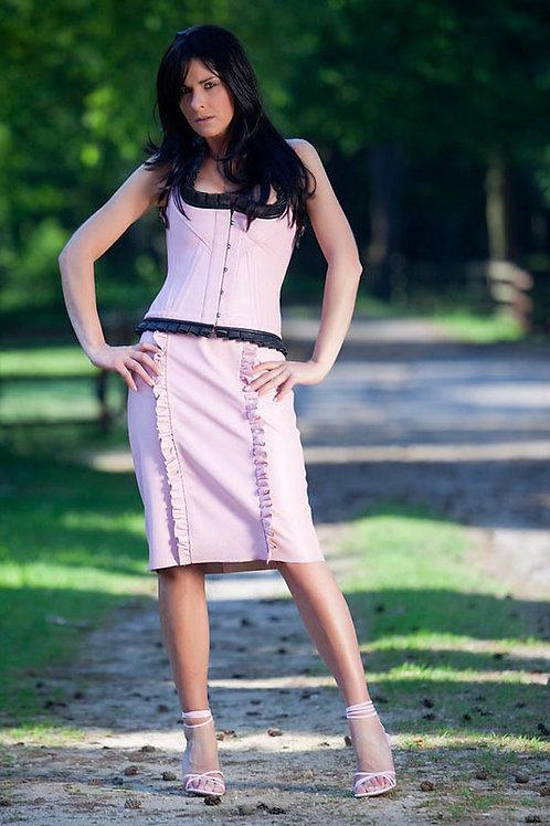 Luxury Quality Vertical Ruffle Skirt