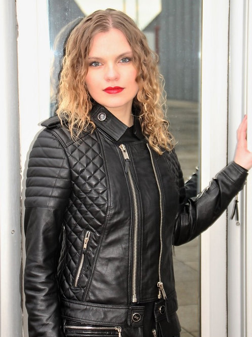 Quilted Biker Leather Jackets.