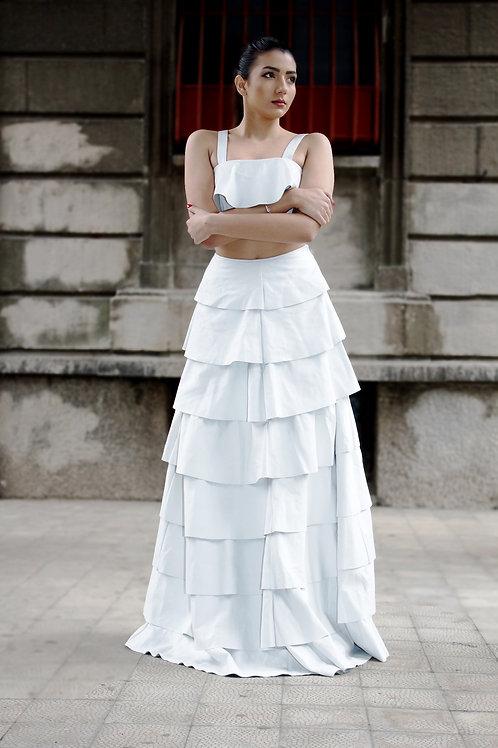 Flor Length Ruffle Skirt & Top