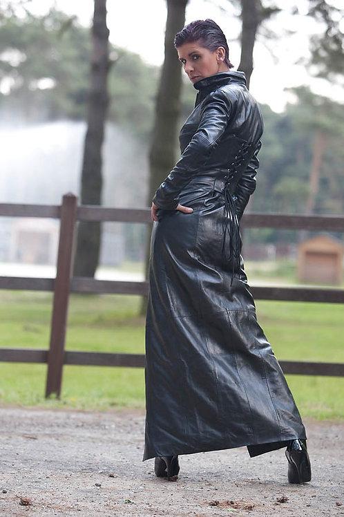 Women's Matrix Leather Dress Coat