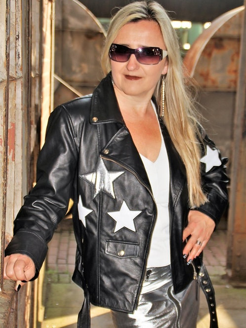 Silver Star Biker Fashion Jacket.