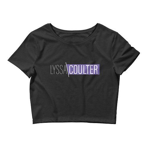 Lyssa Coulter Women's Crop Tee (Black)