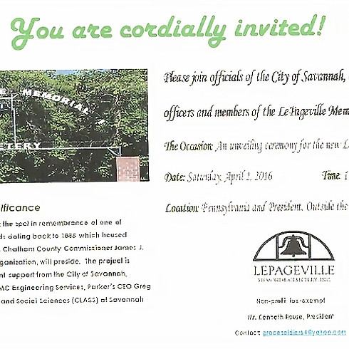 Unveiling Ceremony of the new 'LePageville Drive' Street Sign