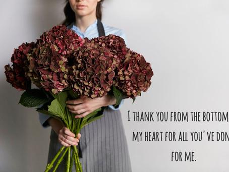 Английские слова по теме Благодарность.