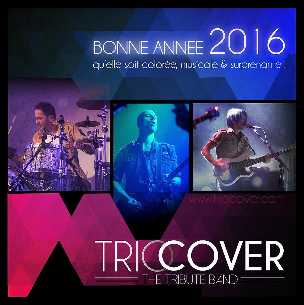 Trio Cover, Groupe de Reprise Rock, Bonne Année 2016