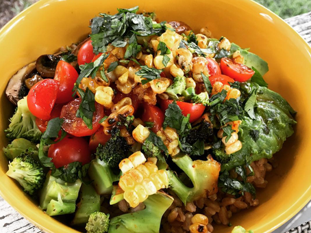 Grilled Veggie Farrow Bowl