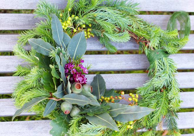 Hand made Christmas wreaths