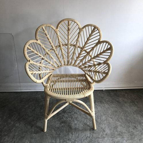 เก้าอี้ดอกไม้หวายแท้