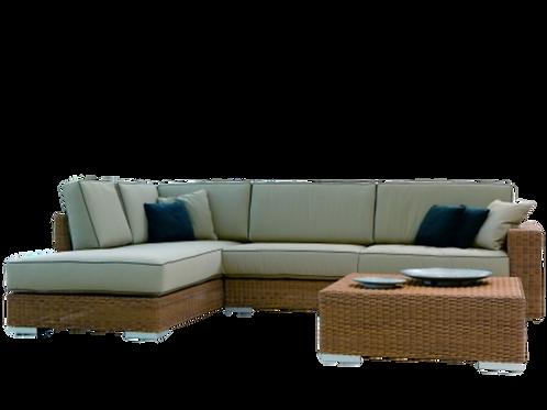 K33 L shaped rattan sofa