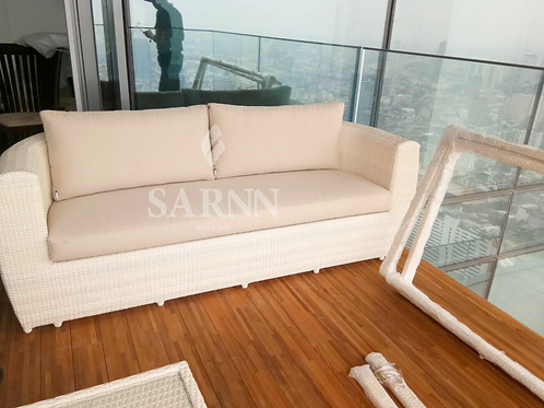 Tera White wash outdoor sofa