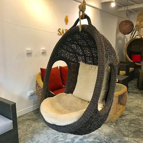Oval Outdoor Swing Chair กระเช้าชิงช้าหวายเทียมรังนก