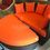 Thumbnail: Lay Set Orange โซฟาหวายสองชิ้นพร้อมโต๊ะเก็บได้ใต้โซฟา