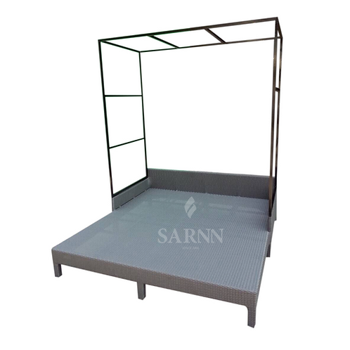 High bar double bed