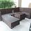 Thumbnail: U Party Sofa Set ชุดหวายทรงตัว U