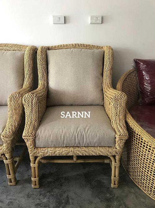 เก้าอี้หวายแท้ถักทรงคลาสสิค