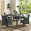 Thumbnail: Modway Summon 47 Square Outdoor Patio Dining