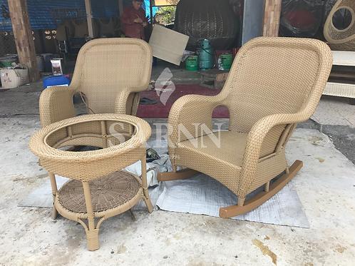 Rocking Rattan Chair เก้าอี้โยกหวายเทียม