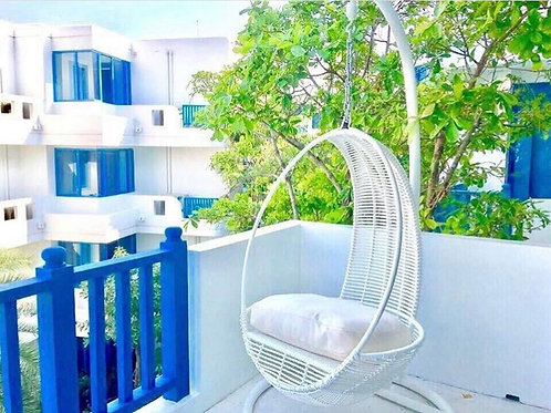 White beach outdoor hanging chair