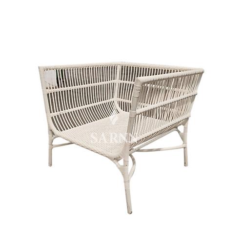 White wide chair