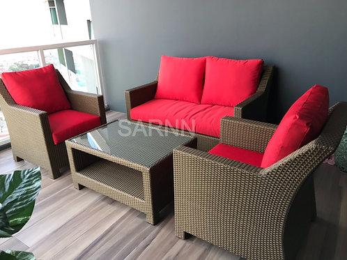 Ent Edge 2 Seater Sofa Set ชุดหวายเทียมโซฟาสองที่นั่ง