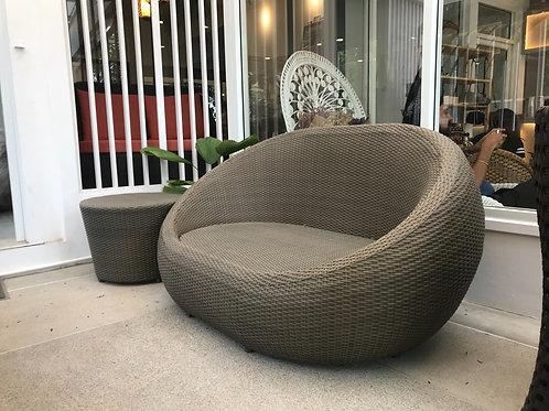 Two seated sofa โซฟาหวายเทียมสองที่นั่ง