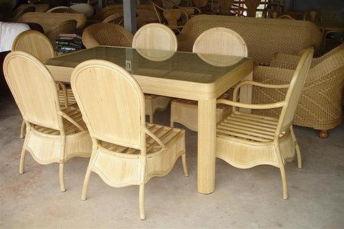 Saiwaii ชุดโต๊ะทานอาหาร 6 ที่นั่ง