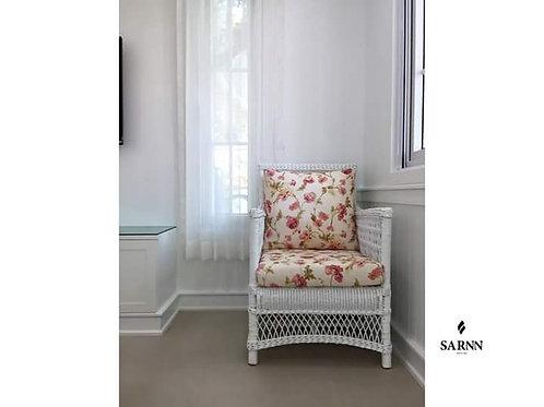 เก้าอี้หวายแท้สีขาว