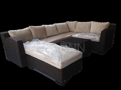 U Party Sofa Set ชุดหวายทรงตัว U