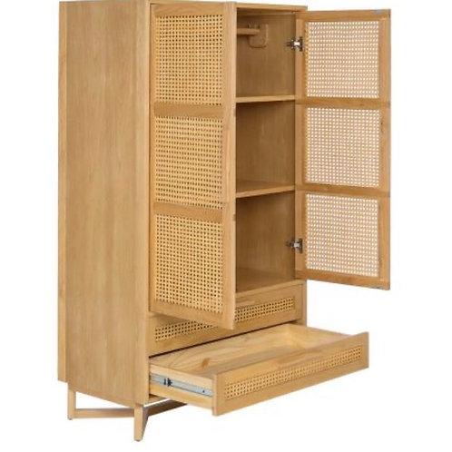 Raffle 2 doors 2 drawers ตู้เสื้อผ้าหวาย