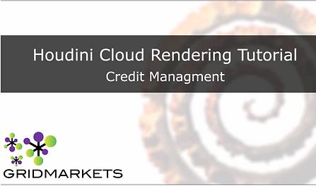 Credit Management - Houdini cloud rendering houdini render farm