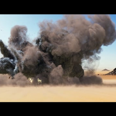 Carlo Carfora -Desert Explosion in Houdini 16. Rendered in Mantra. Used GridMarkets to render it as I thought it would be a good test for the service, was impressed with the service and would use it again!